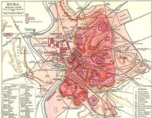 Rom Sehenswürdigkeiten Karte Deutsch.Rom Stadt Der Sehenswürdigkeiten Und Bedeutendes Historisches Zentrum